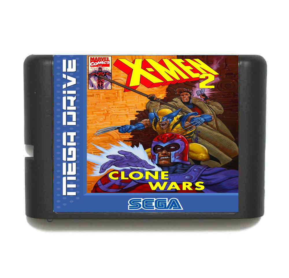 X-Men 2 16 Bit Mega Drive Game Card For Sega Genesis Video Game Console image