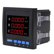 AC 220V Power Watt Power Meter 3 Phase Multifunktionale Mit LCD/LED Digital Strom Volt Power Meter(China)