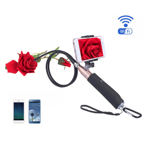 Wifi Handle Endoscope 8mm HD Borescope Snake Cable Surveillance Camera with 8 LED Lights for Android IOS iphone Mobile Phone|Surveillance Cameras| |  -