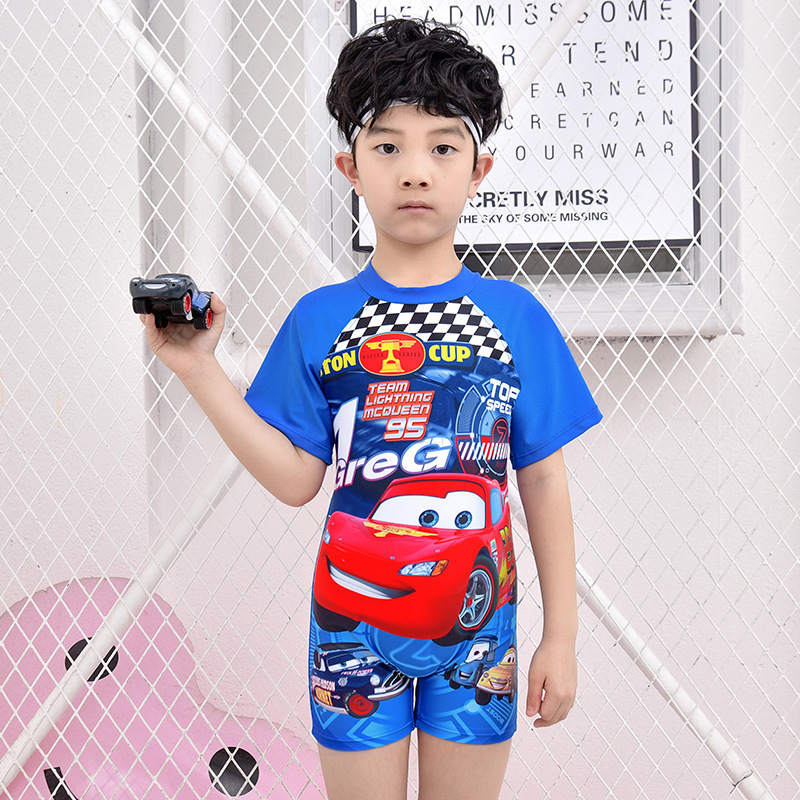 South Korea New Products Children Beach Swimming Suit BOY'S Sun-resistant Big Boy Split Type Star Set Surfing Suit