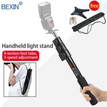 BEXIN aluminum photoflash flash light handheld grip rig support rod speedlite holder 102cm P264L for speedlite/LED flash цена и фото