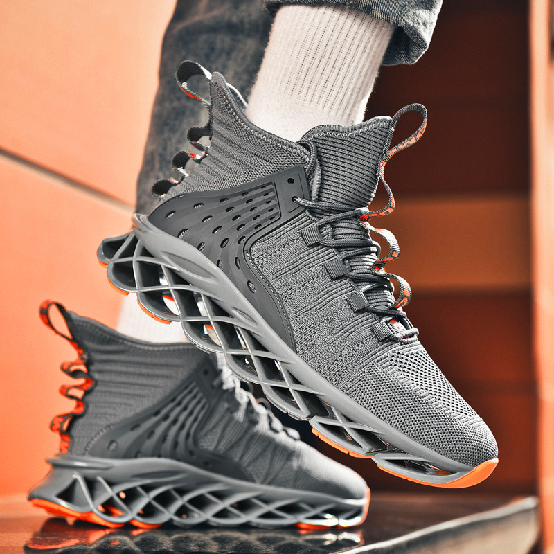 Men's Basketball Sneakers Non-slip Casual Shoes Flyknit Breathable Trend Shoes New Zapatos Hombre Outdoor Hiking Shoes Lace Up