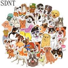 50 шт милые наклейки для собак животные корги лабрадор золотистый