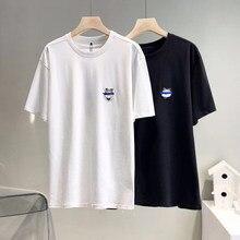 2021 NEUE Ader Fehler Bunte Stickerei Schneemann T-Shirt Männer Frauen Sommer Liebhaber Halb Kurzarm 1:1 hohe Qualität Z-Stich Tops
