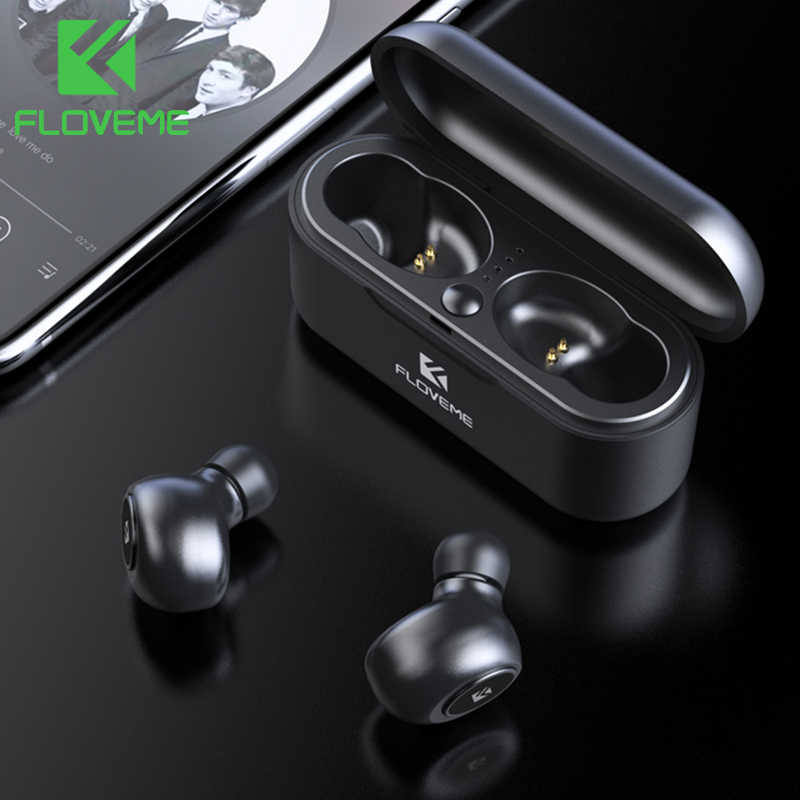 FLOVEME TWS 5.0 Bluetooth Earphone For Xiaomi Redmi Wireless Earphones Headphone Headset 3D Stereo Sound Earbuds Dual Microphone