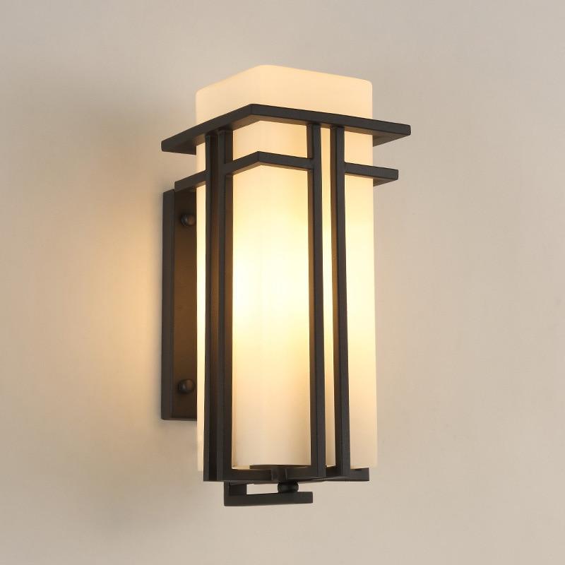 Işıklar ve Aydınlatma'ten Duvar Lambaları'de Dış duvar lambası Led çağdaş yaratıcı bahçe lambası dış balkon duvar lambası title=