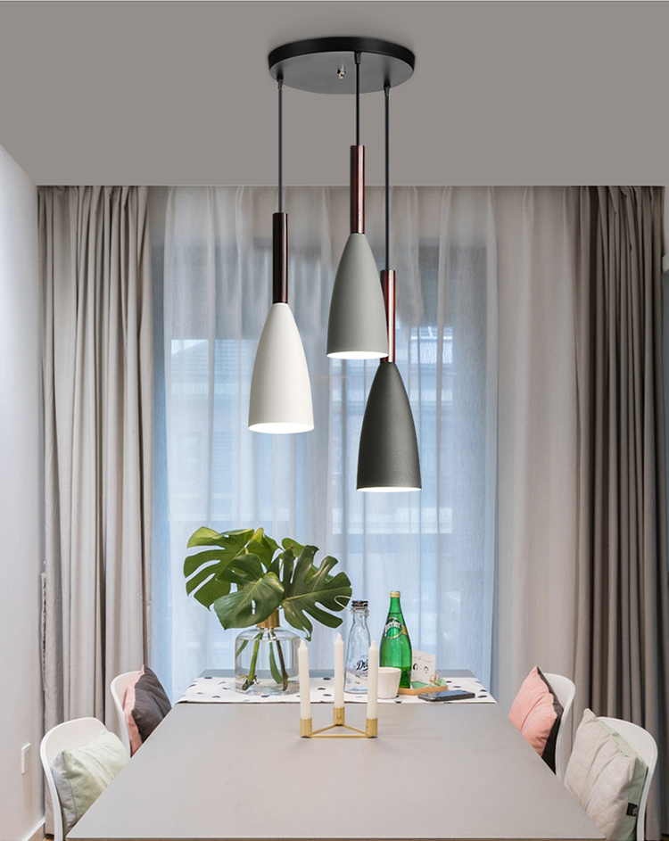Nordic Loft Simple Pendant Lights E27 Led Modern Creative Hanging Lamp Design Diy For Bedroom Living Room Kitchen Restaurant Pendant Lights Aliexpress