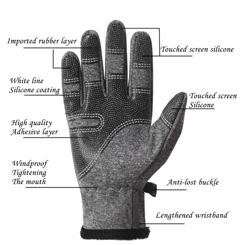CUHAKCI Waterproof and Windproof Touch Screen Gloves for Men and Women Suitable for Operating All Touch Screen Devices during Winter 22