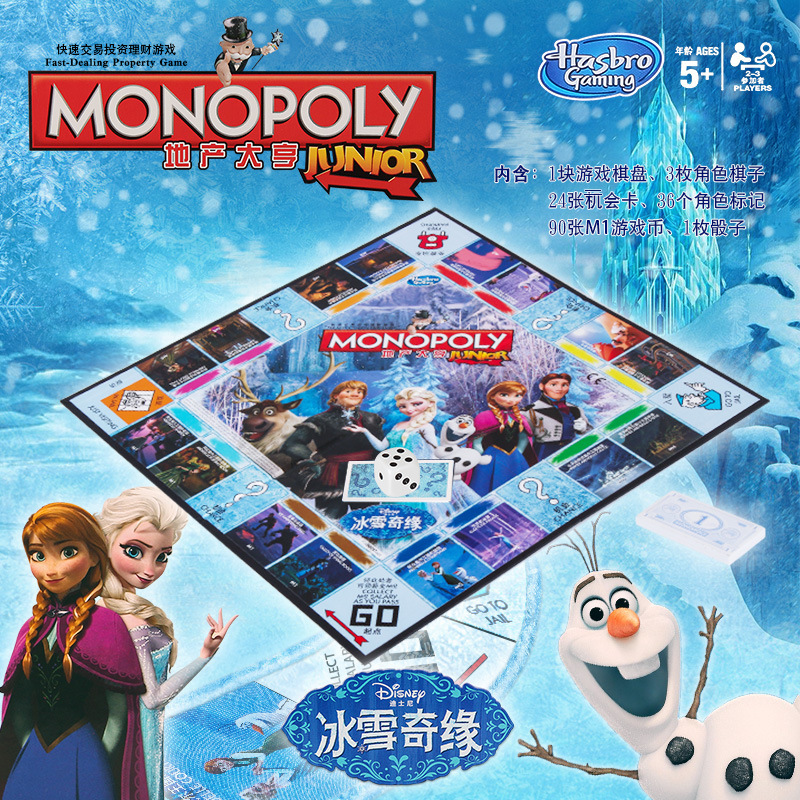 Hasbro Frozen Monopoly Fast Trade Real Estate Trading Game For Adult Gaming Merchandise Chinese/English Version