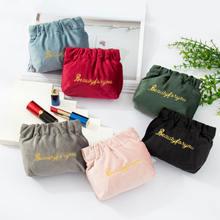 Бархатный Органайзер на шнурке сумка для хранения Рождество