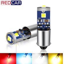 2 шт. T11 Ba9s T4W светодиодный Canbus без ошибок T4W супер яркий 3030 чипов Автомобильный светодиодный светильник Внутреннее освещение авто H6W автомобильный номерной знак Lam