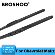 BROSHOO Car Windshield Wiper Blade Natural Rubber For Chevrolet Matiz Fit Hook Arms 2005 2006 2007 2008 2009 2010 Accessories broshoo car windshield wiper blade natural rubber 24