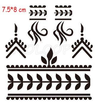 Waterproof tattoo sticker mandala totem flower black fake tatoo hand finger water transfer flash body small art temporary tatto 5