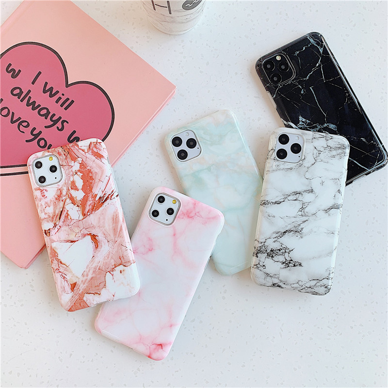 Marble Fundas on For iPhone SE 2020 Case Silicon Back Cover For iPhone 7 8 6 6S Plus 11 Pro 12 mini XS XR X Soft TPU Phone Capa