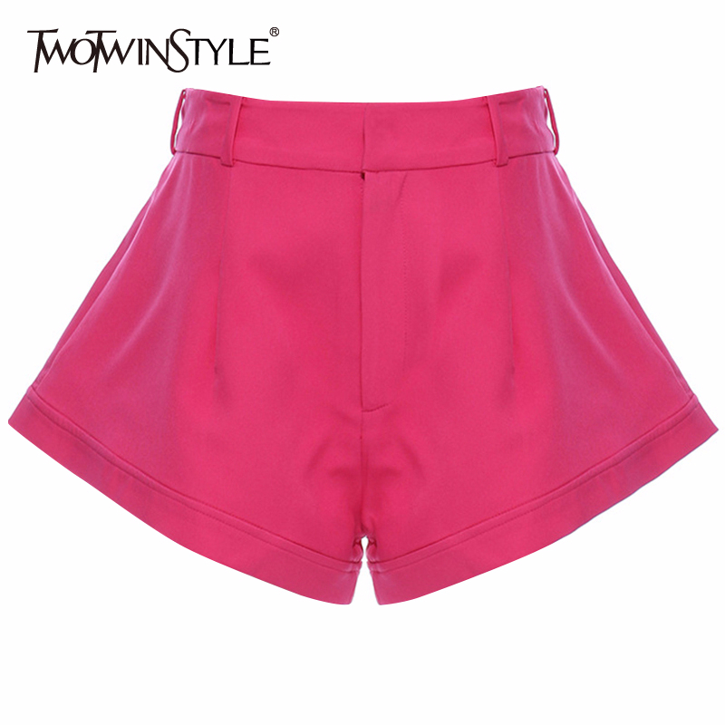 TWOTWINSTYLE Casual Loose Women Shorts Skirts High Waist Sexy Beach Style Short Pants Female Fashion 2020 Spring Clothing Tide 1