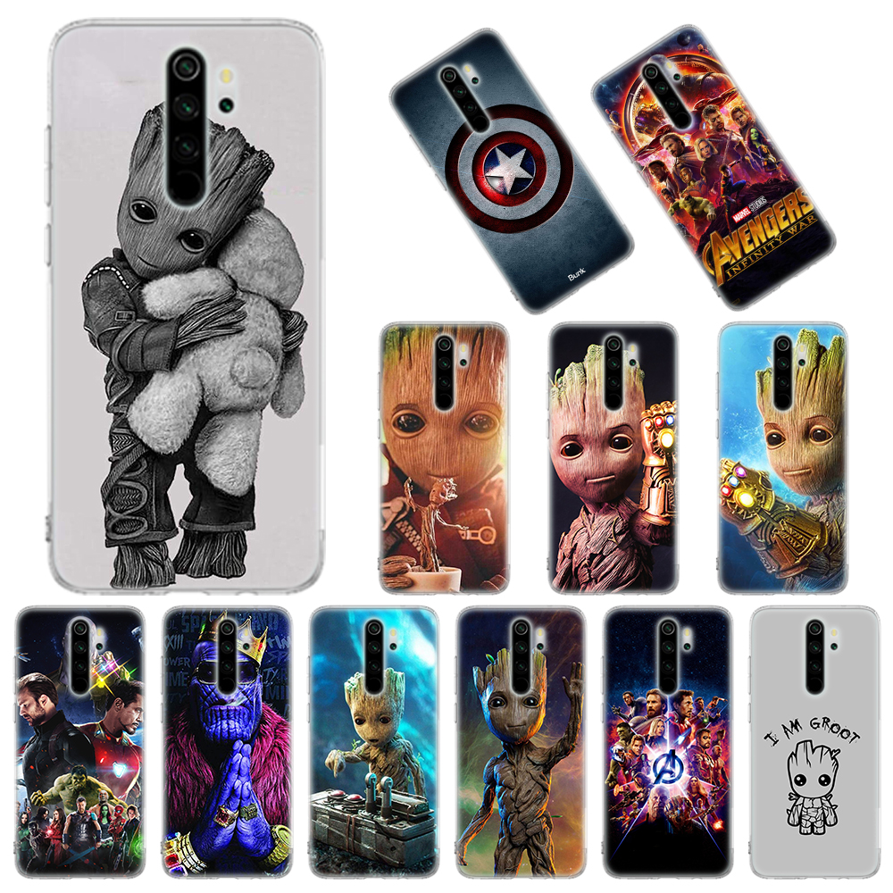 Silicone Case For Xiaomi Redmi Note 8T 9S 6 7 8 Pro 9 Pro Max 6A 7A 8A K20 K30 Pro Cover Guardians Of The For Galaxy Marvel