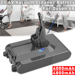 4000 mAh/4800 mAh 21,6 V Li-ion batería aspiradora batería recargable para Dyson V8 absoluto V8 Animal
