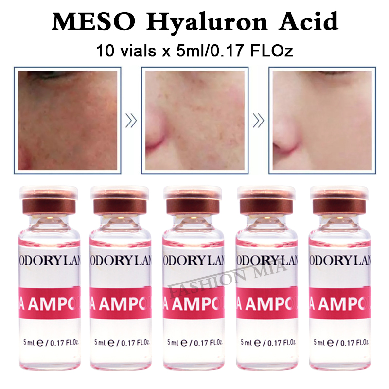 10 vials Collagen Hyaluronic Acid Ampoule 5ml Pure Micro Molecular Microneedles Therapy Cross-linked HA Hyaluronic Acid Serum