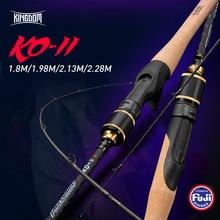 Reino KO-II varas de pesca todos os acessórios fuji viagens ultra leve haste carcaça original triangular 3a cortiça lidar com haste fiação
