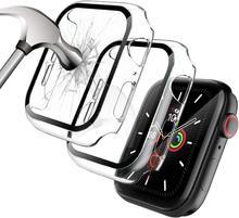 Чехол для Apple Watch Series 6/5/4/SE 40 мм 44 мм, протектор экрана из закаленного стекла, жесткий бампер из поликарбоната, защитный чехол для iWatch