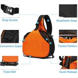 Image 2 - 사진 방수 삼각형 슬링 크로스 바디 남성 여성 소프트 패딩 카메라 어깨 가방 여행 캐주얼 삼각대 가방 디지털