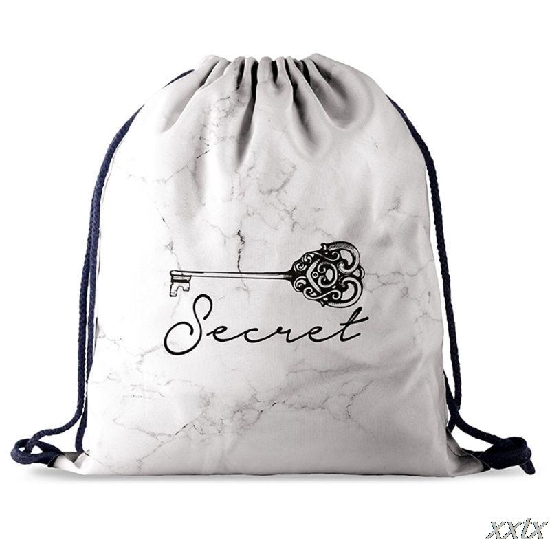 Women Printed Pattern Drawstring Bag Gym Backpack Travel Sports Daypack Beach Rucksack A69C