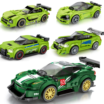 Speed Champions Racers sets technik Model Building Blocks Toys Kids City bricks Vehicles muscle Racing sports Famous rally Car 1