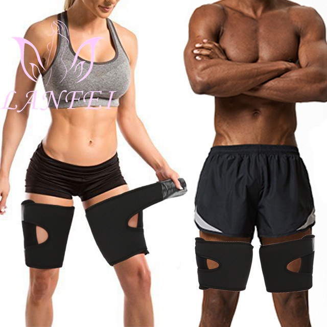 LANFEI Hot Neoprene Thermo Thighs Shaper Slimming Compression Leg Wrap Belt Ultra Sweat Sauna Thigh Trimmer Workout Gym Strap