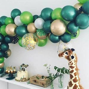 Image 4 - Jungle Safari Theme Party Supplies Green Balloons Garland Arch Kit Birthday Baby Shower Forest Party Christmas Decorations