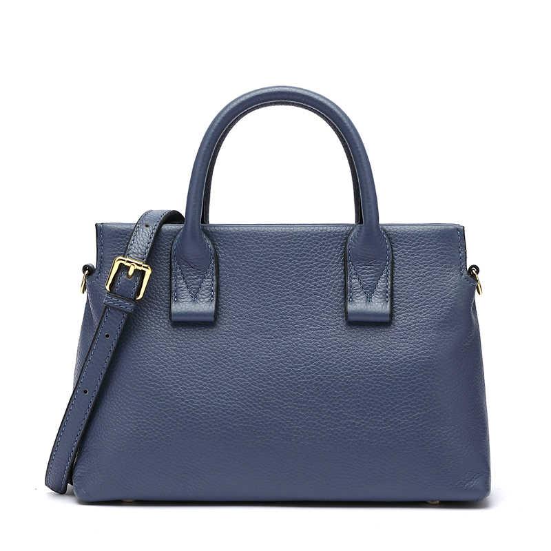 BISONJS Echtem Leder Luxus Handtaschen Frauen Taschen Designer Frauen Tote Tasche Casual top-griff tasche Weibliche Schulter Tasche B1870