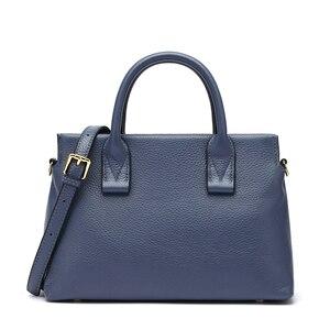 Image 2 - BISONJS роскошные сумки из натуральной кожи, женские сумки, дизайнерская женская сумка тоут, повседневная сумка с верхней ручкой, женская сумка на плечо B1870