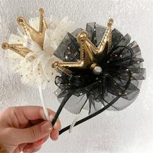 Повязки на голову для девочек повязки волос принцессы пряжа