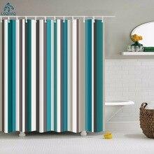 Decorative Geometric Shower Curtain Stripe Wave Waterproof Bath Curtains For Bathroom Rideau De Douche