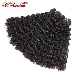 Удлинённый человеческий волос бразильский вьющиеся человеческие волосы пряди 1/3/4 шт вьющиеся волосы переплетения пряди Али Annabelle вьющиеся ...