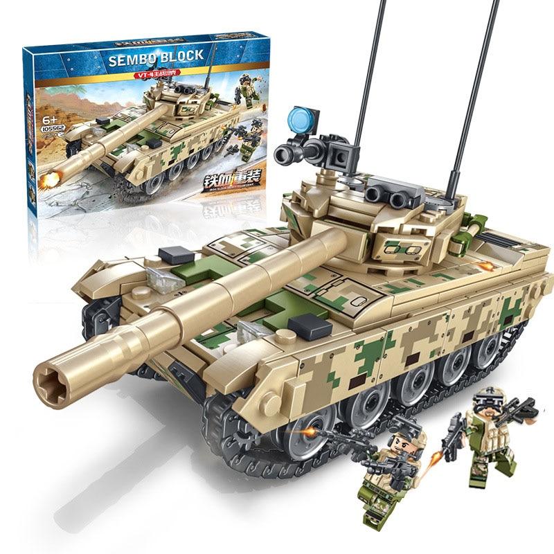Main Battle Tank Model Kit Compatible Legoing Boys DIY Educational Assembling Building Blocks Brick Children Toys Gift New P07