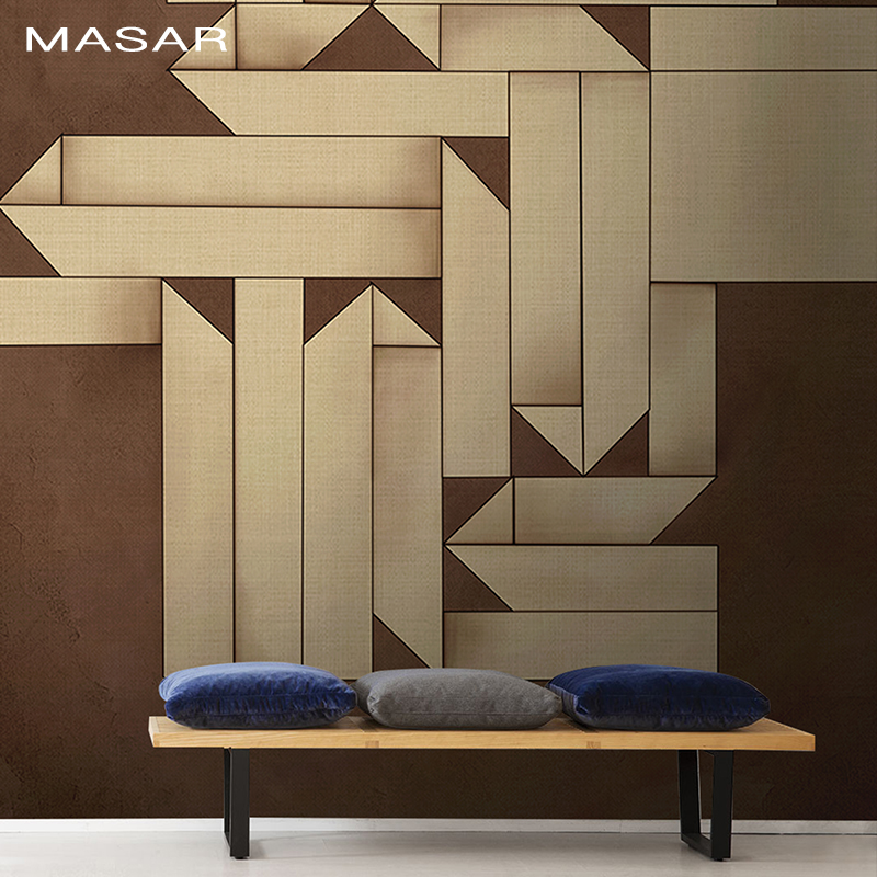 MASAR Hand Origami Effect Geometric Figure Mural Bedroom Living Room Dining Room Hall Hall Background Wall Wallpaper