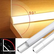 2-30pcs/lot 0.5m/pcs V-Type Corner Aluminum Profile For 5050 3528 Milky/Transparent Cover LED Channel Cabinet Bar Strip Lights