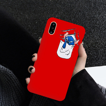 JAMULAR Funny Cartoon Stitch Phone Cases For iPhone XS MAX XR X 7 8 6 6s Plus Lovely Soft Matte Silicone Back Cover
