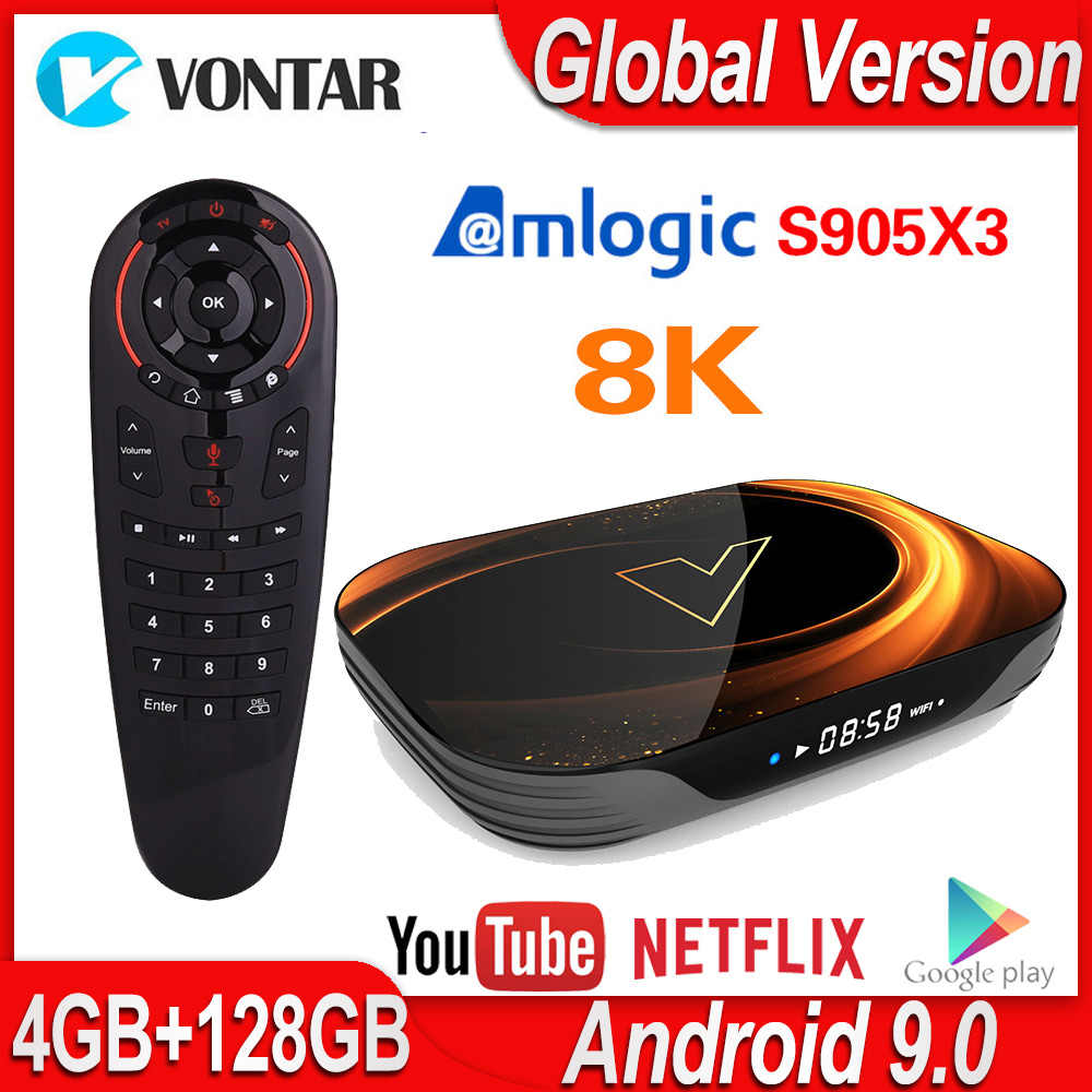 VONTAR X3 8K TV Box Android 9.0 Amlogic S905X3 Smart TV Box 4GB 128GB 64GB 32GB Wifi 4K 60fps 1000M Netflix Youtube Lettore Multimediale