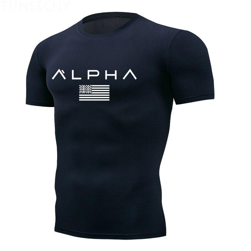 2020 Men Gym Shirt Short Sleeve Fitness Running T-Shirt Muscle Training Sportswear Bodybuilding Slim Fit Shirt Mens Gym T Shirt