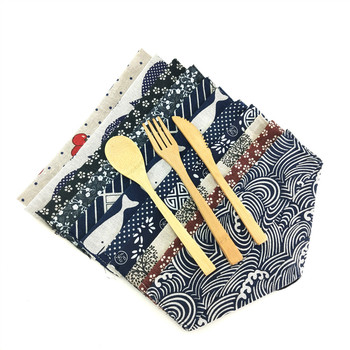 3PCS/Set Bamboo Knives Spoon Fork Travel Utensils Dinnerware Zero Waste Cutlery Eco-friendly Set with Portable Case