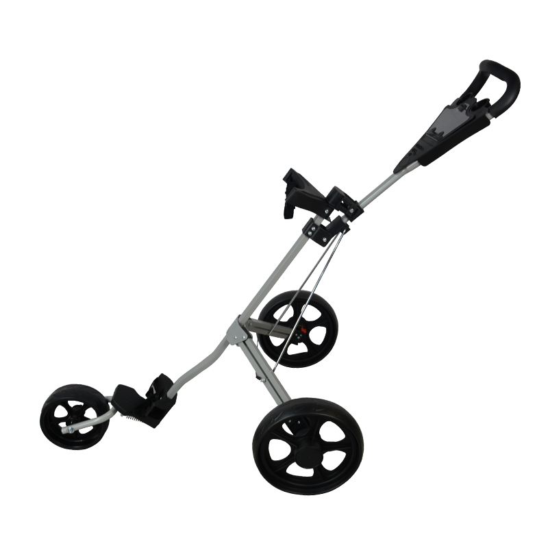 PLAYEAGLE Golf Cart Aluminum Adjustable Golf Trolley 3 Wheels Push Pull Golf Cart Aluminium Alloy Foldable Trolley With Brake