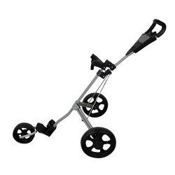 PLAYEAGLE Golfkar Aluminium Verstelbare Golf Trolley 3 Wielen Push Pull Golfkar Aluminium Opvouwbare Trolley Met Rem