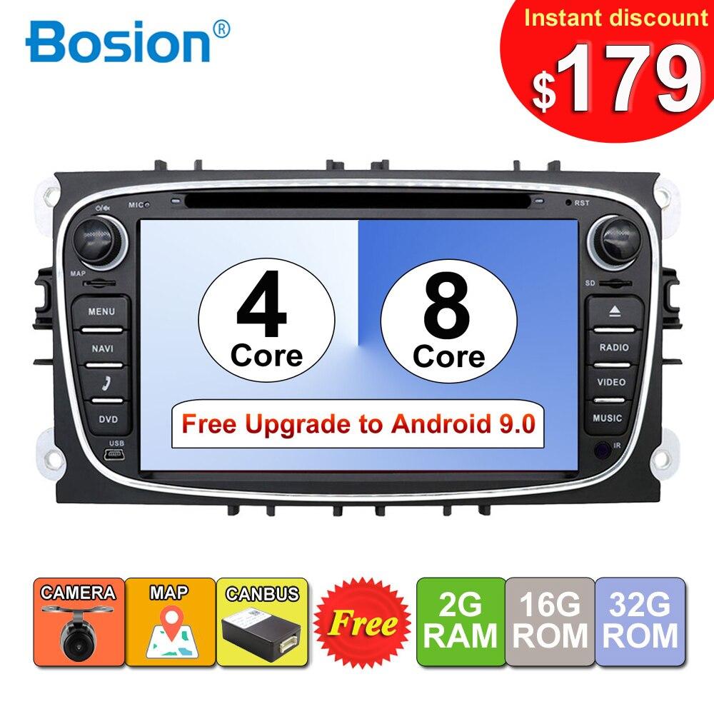 2 din Android lecteur DVD multimédia de voiture GPS Navi pour Ford pour foc2 Mondeo Galaxy Wifi Audio Radio stéréo unité de tête gratuite Canbus