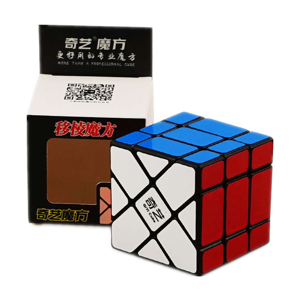 Qiyi 3X3X3 Fisher Cube Speed Magic Cubes Speed Puzzle Learning Educational Toys For Children Kids Cubo Magico