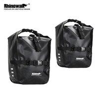 Rhinowalk 2 Pieces 20L Bicycle Pannier Bag Bike Accessories Waterproof Portable Bike Bag Trunk Pack Cycling Travel Cycling Bag