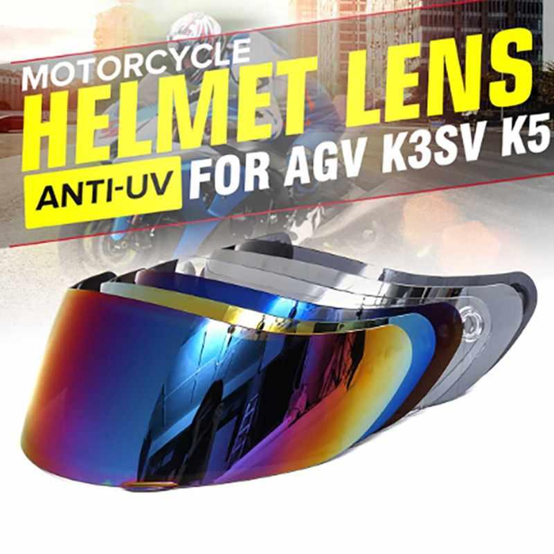 Motorcycle Helmet Visor Motocross Helmets Lens Shield for AGV K5 K3SV Full Face