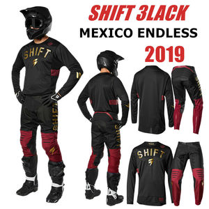 SHIFT Mexico Endless 3lack Motocross Jersey And Pant RED GOLD ATV BMX Moto Gear Set Motorcycle Clothing MX Combo(China)