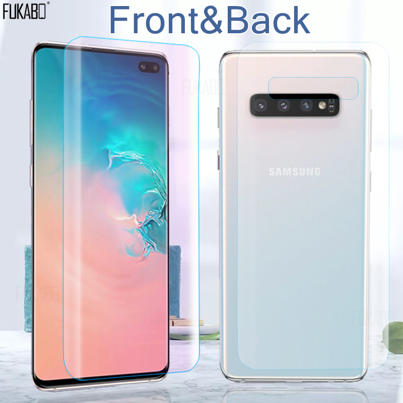 15D Front & Back Hydrogel Film For Samsung Galaxy A51 A10 S10e S8 S9 Plus Screen Protector For Galaxy Note 10 Plus 9 Not Glass