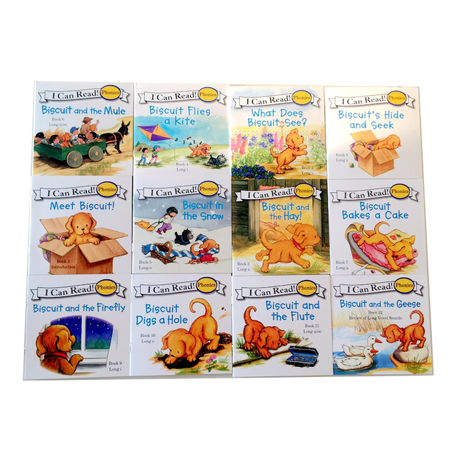 12 Books Biscuit Series Phonics English Picture libros   2